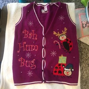 Ugly Christmas Sweater Vest Bah Hum Bug